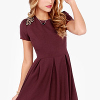 Allure Me In Beaded Burgundy Dress
