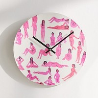 "Leah Reena Goren For Deny Naked Ladies 12"" Wall Clock 