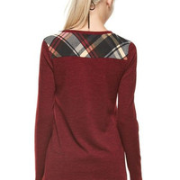 Plaid Reminder Top in Red
