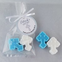 Personalized Baptism Favors  - Baby Christening Cross Soaps with optional tags | Pack of 10