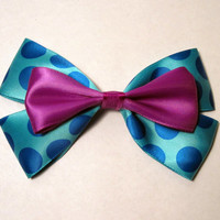 Sully Hair Bow Monster's Inc Disney Inspired