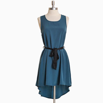 dumonte crest asymmetrical dress in teal - $36.99 : ShopRuche.com, Vintage Inspired Clothing, Affordable Clothes, Eco friendly Fashion