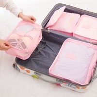 6 Piece Men's and Women's Luggage Travel Packing Cubes Set (8 Colors)
