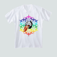 Fire Breathing - Rainbow Cat - Unique Gifts for Men - Unique Gifts for Dad - Unique Gifts for Him - Funny Mens Tshirt - Funny Gifts for Men