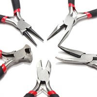 5pcs  PLIERS SET JEWELRY MAKING hobby kits  BEADING WIRE WRAPPING HOBBY