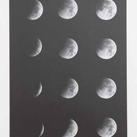 Moon Phase Poster- Mixed Metal One