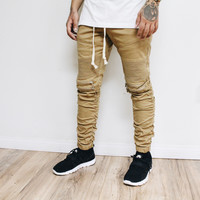 Jach Moto Stacked Pants (Khaki)