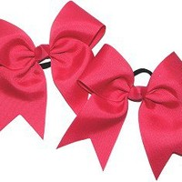 Custom Hair Bows for Cheer / Dance - Pig Tail Set made by POWERBows - 31587