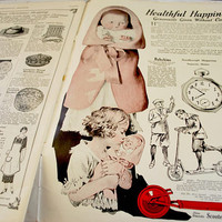 1920s Needlecraft Magazine, Embrodery and Crochet Patterns, Vintage Black and White Adds