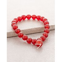 High-Energy Red Carnelian Wrist Mala