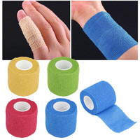 New Arrival  Self-Adhering Bandage Wraps Elastic Adhesive First Aid Tape Stretch 5cm free shipping