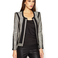 Rift Stretch Embossed Leather Jacket by Helmut Lang at Gilt