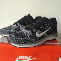 """""""Nike"""" Sport Casual Unisex Multicolor Flyknit Sneakers Couple Running Shoes"""