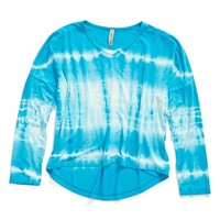 Girl's Gypsy Daisy High/Low Tie Dye V-Neck Top ,