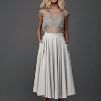 Sheer Silk Top With Skirt Set   Marchi   Shop   NOT JUST A LABEL