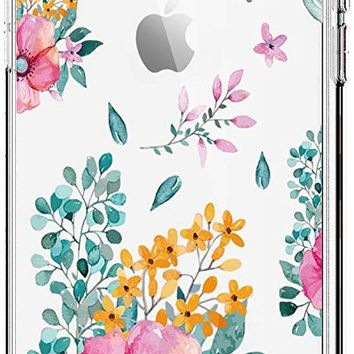 iPhone X Case TPU Silicone Cute Flower Pattern Amusing Design Protective Cover
