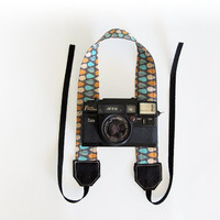 Fabric camera strap womens camera strap neck strap rain drop
