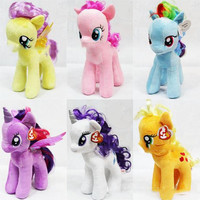 Plush Toys Horse Children Cute Popular Fine Fashion My Little Pony High Quality Horse Kids Decorations Colorful Doll Lovely Boys Girls Toys