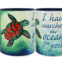 Searching Sea Turtle Mug by Pithitude - One Single 11oz. Blue Coffee Cup