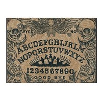 Ouija with Angel of Death glass cutting board 15x11