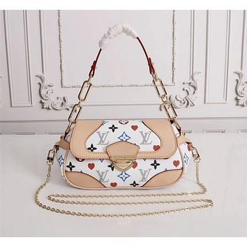 LV Louis Vuitton WOMEN'S MONOGRAM CANVAS VINTAGE HANDBAG SHOULDER BAG