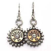 Gold and Silver Remington Dangle Earrings
