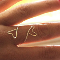 Heart Ring, friendship, love, unity - sterling silver wire
