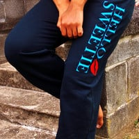 Hello Sweetie River Song Sweatpants. Doctor Who Fandom. Unisex Adult Sweatpants.
