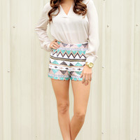 Run This Town Blouse: Ivory