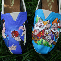 Snow White and the Seven Dwarfs Original Custom Acrylic Painting for Toms Shoes