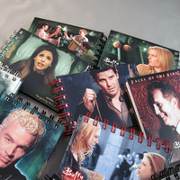 Recycled Buffy the Vamire Slayers Mini Notebook