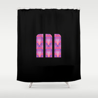 M Vector Scales Shower Curtain by Matt Irving