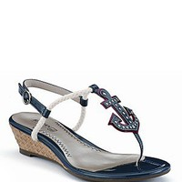 """Sperry Top-Sider """"Delray"""" Anchor Wedge Sandals 