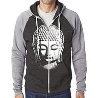 Mens Big Buddha Head Full-Zip Hoodie