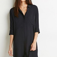 Dolman-Sleeve Shirt Dress
