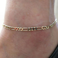 1pc Womens Fashion Simple Figaro Link Chain Ankle Bracelet Anklet Foot Jewelry