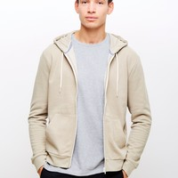 The Idle Man Zip Through Jumper Off White