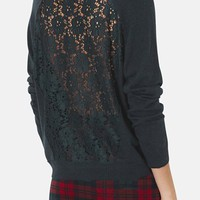 Topshop Lace Back Sweater | Nordstrom
