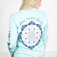 Day-First™ Love Never Fails Sweatshirt | Simply Southern