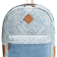 Junior Women's Billabong 'Hidden Trek' Geo Print Canvas Backpack