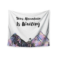 "Kess Original ""Your Mountain Is Waiting "" Pink Purple Wall Tapestry"