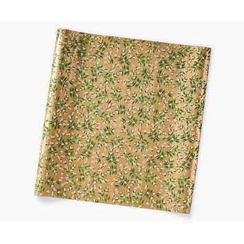 Mistletoe Gold Continuous Wrapping Roll