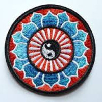 Red/Blue Yin Yang Patch