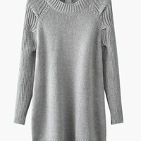 Gray Knitted Sweater
