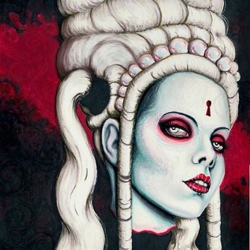 Low Brow portrait of Kerli limited edition 12x12 print