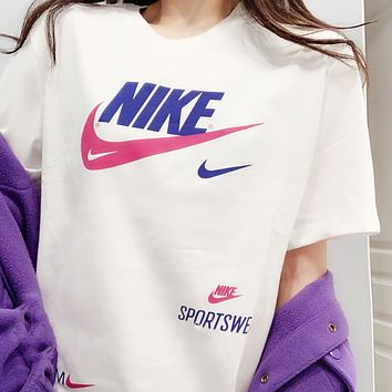 Nike 2020 New Sports Casual Double Hook Breathable Half Sleeve T-Shirt