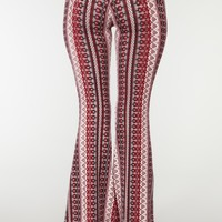 Line Em Up Flare Pants - Black/Red