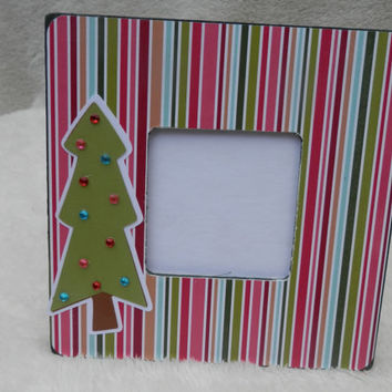 Embellished 3.5 x 3.5 Christmas Themed Picture Frame