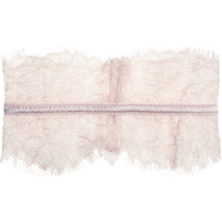 Mimi Holliday by Damaris - Oyster Whippy satin-trimmed lace garter