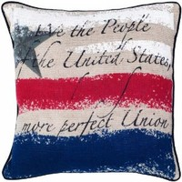 Rizzy Home T04322 Printed Vintage Pattern Decorative Pillow, 18 by 18-Inch, Beige
